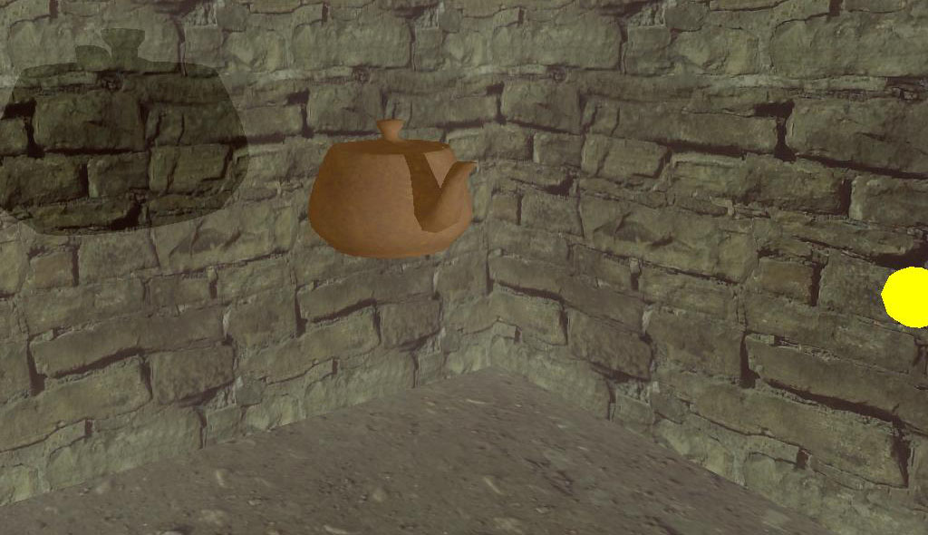 An example of surfaces hidden in a video game